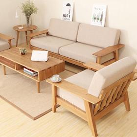 Bộ sofa văng gỗ Sồi nỉ Hàn Quốc T061