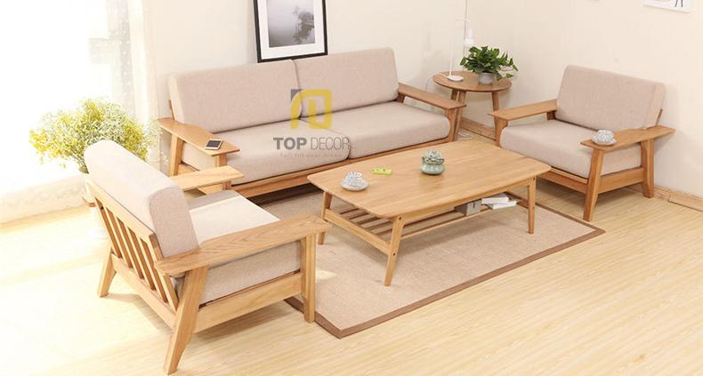Hỏi đáp: Nên chọn sofa gỗ hay sofa vải?