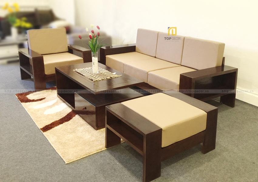 Bộ sofa văng gỗ T136 ,3
