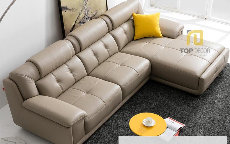 Sofa da gỗ Sồi T010 ,2