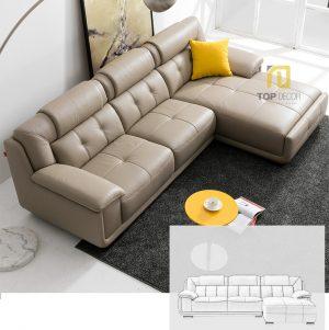 Sofa da gỗ Sồi T010 ,5