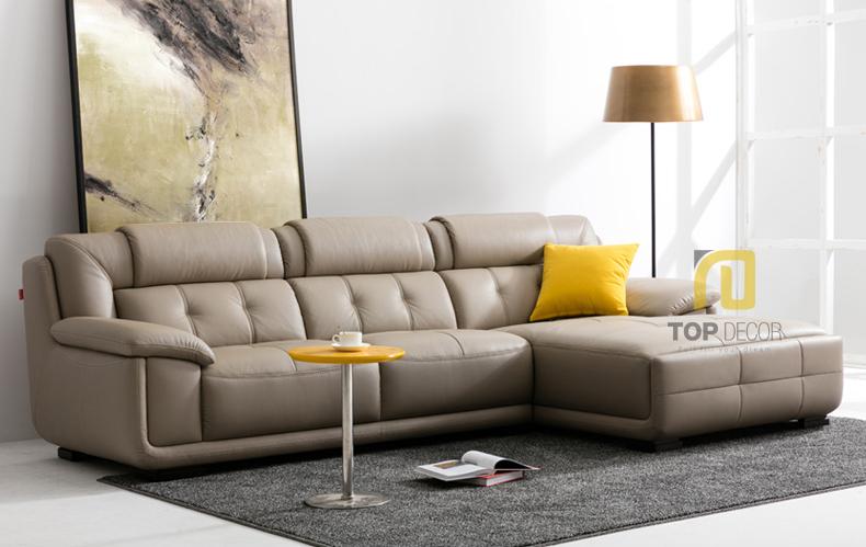 Sofa da gỗ Sồi T010 ,4
