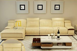 Sofa da Hàn Quốc gỗ Sồi T021 ,4