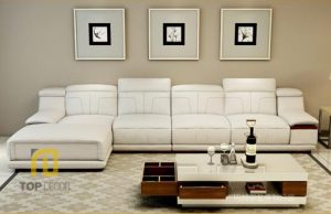 Sofa da Hàn Quốc gỗ Sồi T021 ,3