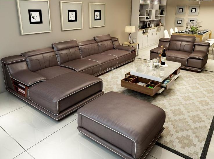 Sofa da Hàn Quốc gỗ Sồi T021 ,5