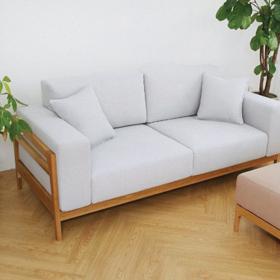 Sofa gỗ Sồi đệm nỉ Hàn Quốc T050