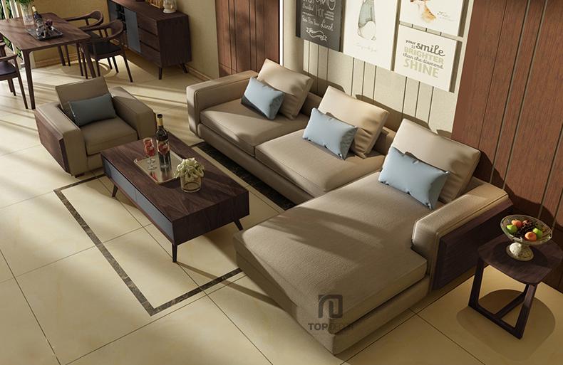 Sofa góc T003 nỉ Hàn Quốc ,3