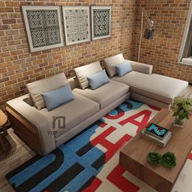 Sofa góc T003 nỉ Hàn Quốc
