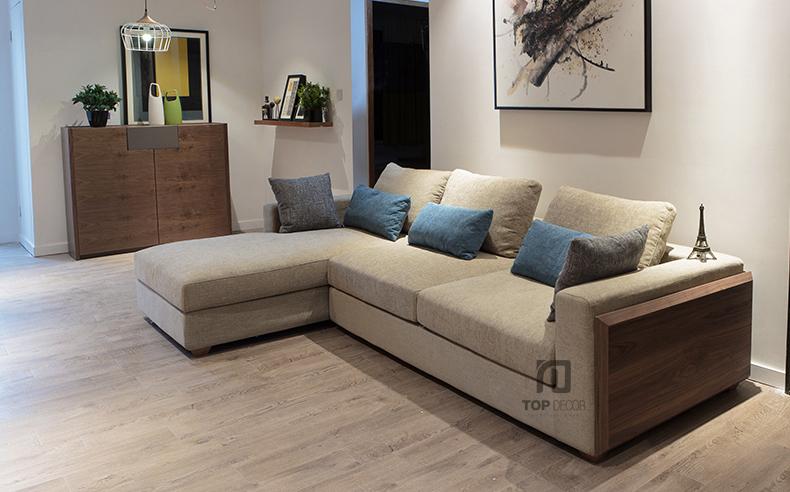 Sofa góc T003 nỉ Hàn Quốc ,2