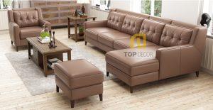 Sofa góc T014 da Hàn Quốc ,2
