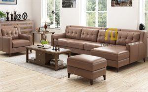 Sofa góc T014 da Hàn Quốc ,1