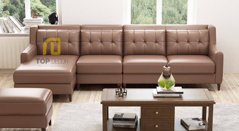 Sofa góc T014 da Hàn Quốc ,3