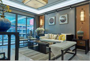 Sofa văng gỗ Sồi T060 ,4