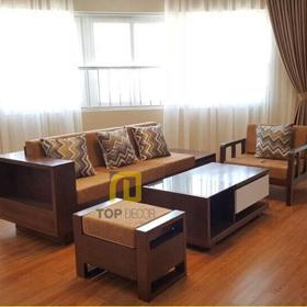 Sofa văng gỗ đệm nỉ T124