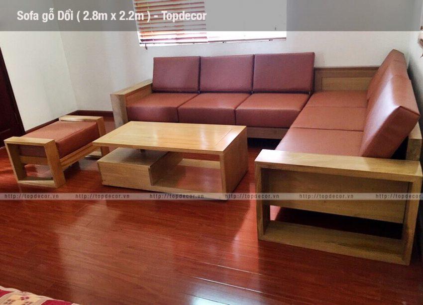 Bộ sofa gỗ Dổi – Một sản phẩm nội thất cao cấp