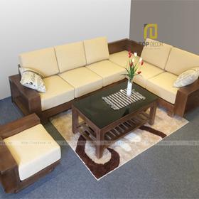Sofa gỗ góc đệm T125