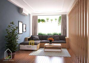 Sofa gỗ góc nỉ Hàn Quốc T122 ,1