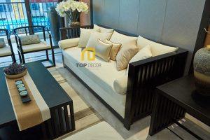 Sofa văng gỗ Sồi T060 ,2