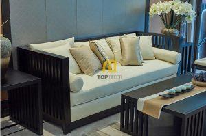 Sofa văng gỗ Sồi T060 ,1