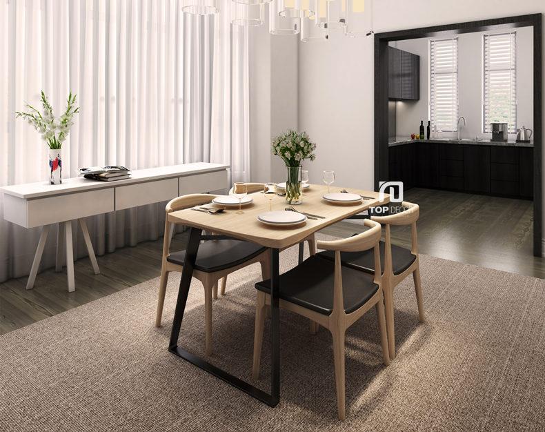 Bộ bàn ăn 4 ghế hiện đại TB002 ,1
