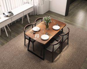 Bộ bàn ăn 4 ghế hiện đại TB002 ,4