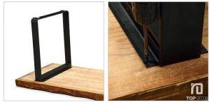 Bộ bàn ăn gỗ Sồi TB001 ,4