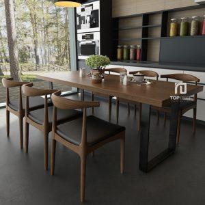Bộ bàn ăn gỗ Sồi TB001 ,3
