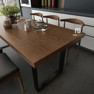 Bộ bàn ăn gỗ Sồi TB001 ,1
