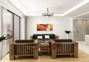Bộ sofa gỗ đối diện T150 ,4