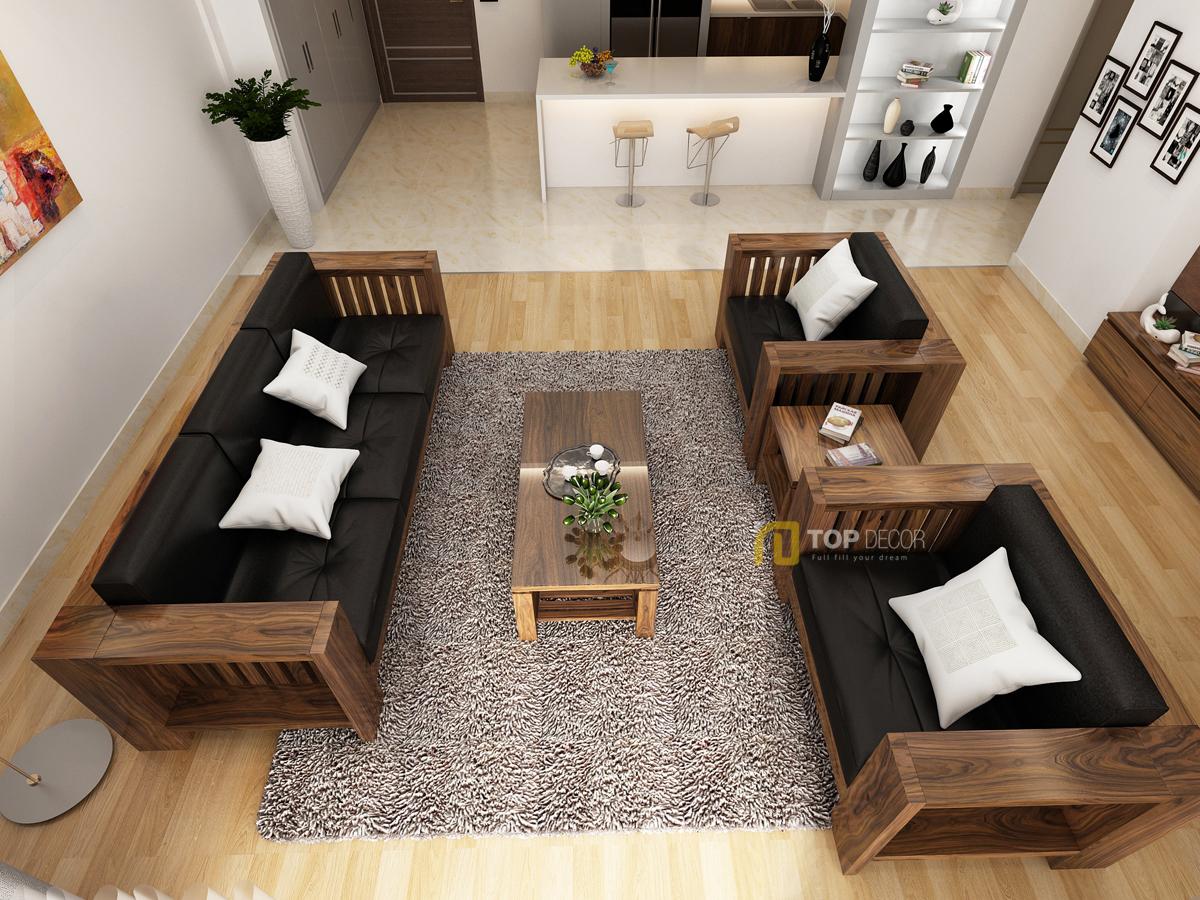 Bộ sofa gỗ đối diện T150 ,5