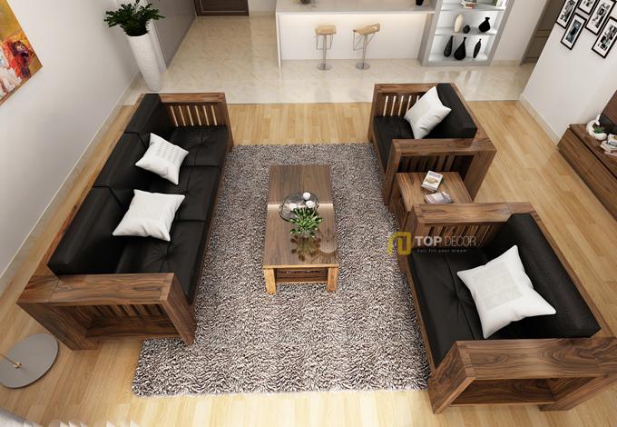 Bộ sofa gỗ đối diện T150 ,3