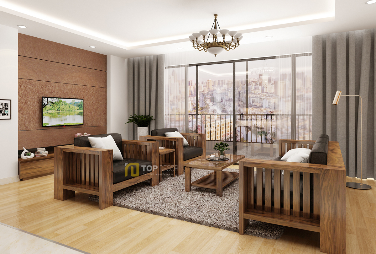 Bộ sofa gỗ đối diện T150 ,1