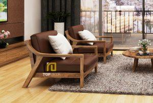 Sofa gỗ đệm T139 ,2