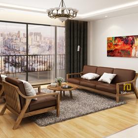 Sofa gỗ đệm T139