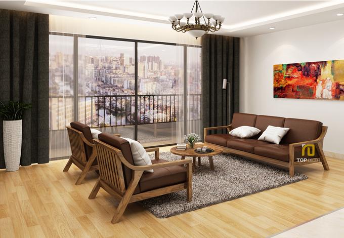 Sofa gỗ đệm T139 ,1