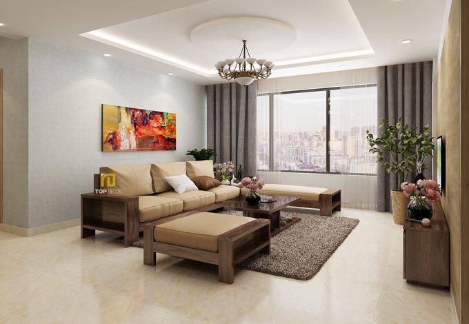 Sofa gỗ đệm T154 ,1