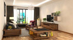 Sofa gỗ đệm da Hàn Quốc T146 ,4