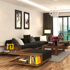 Sofa gỗ đệm da Hàn Quốc T146