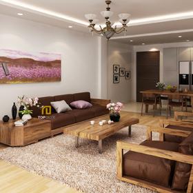 Sofa gỗ đệm T152
