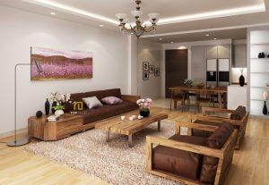 Sofa gỗ đệm T152 ,1