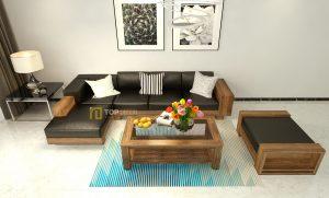 Sofa gỗ góc đệm cao cấp T145 ,1