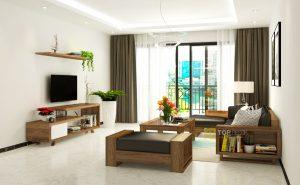 Sofa gỗ góc đệm cao cấp T145 ,3