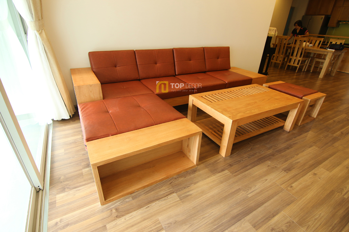 Sofa gỗ tay hộp T147 ,5