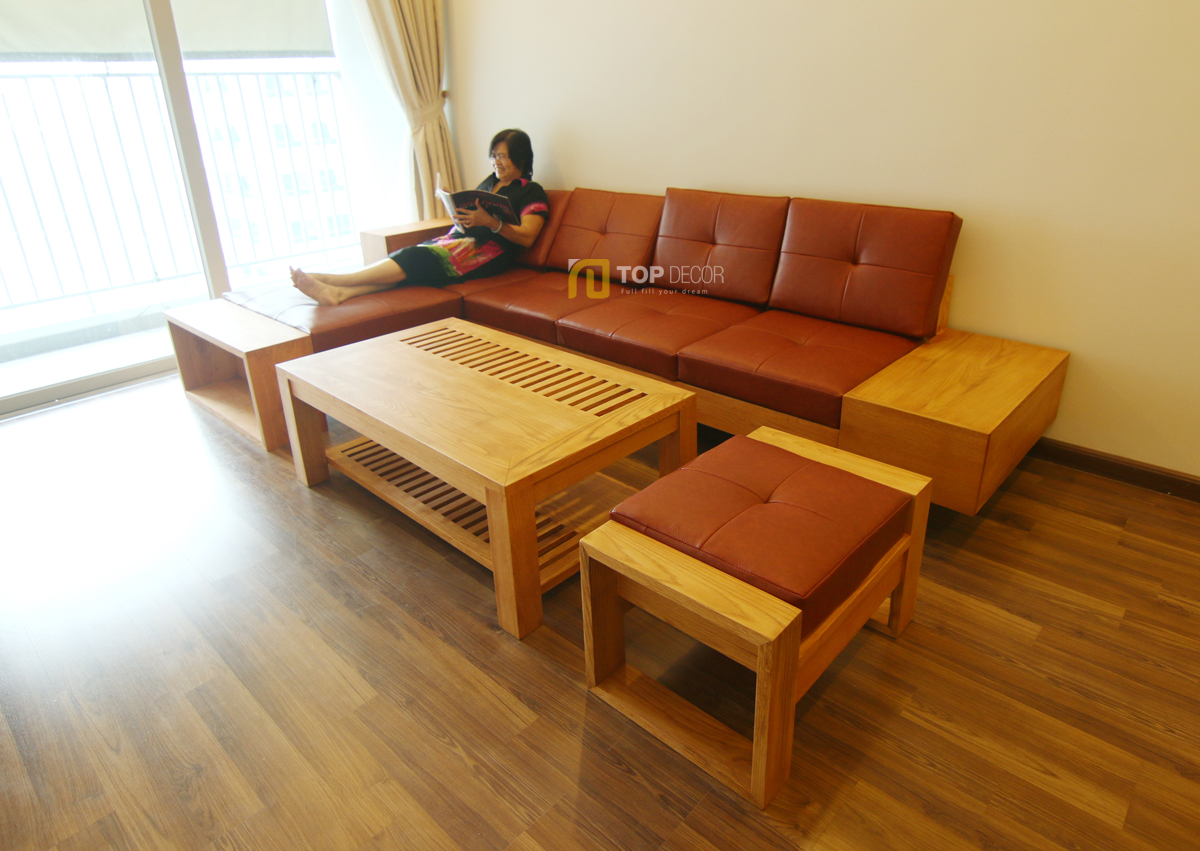 Sofa gỗ tay hộp T147 ,1