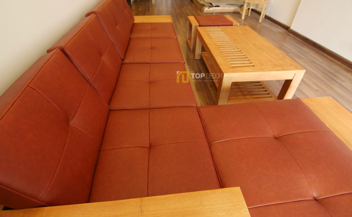 Sofa gỗ tay hộp T147 ,3