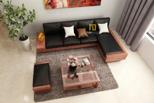 Sofa gỗ đệm T151 ,4