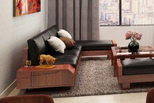 Sofa gỗ đệm T151 ,2