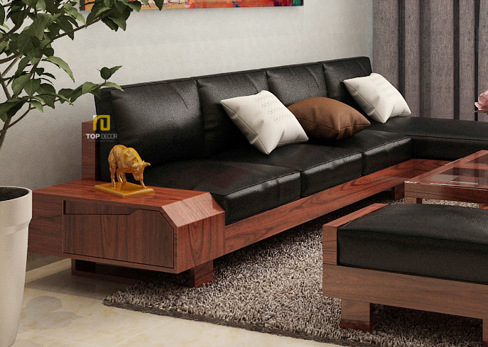 Sofa gỗ đệm T151 ,1