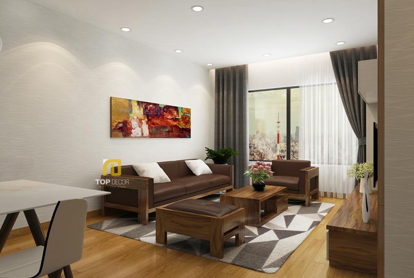 Sofa gỗ Sồi da Anh T156 ,5