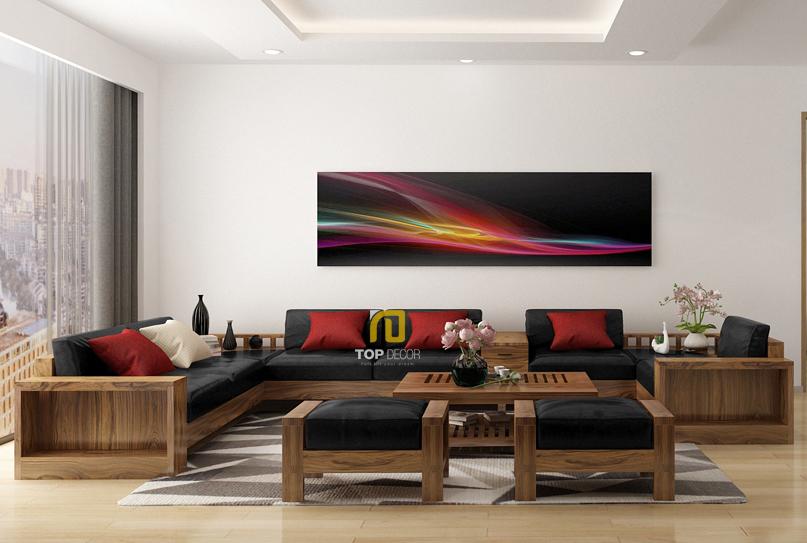 Sofa gỗ chữ U T158 ,4